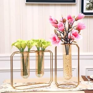 Gold Blumenvasen Wasserwanne Glasvasen Wohnkultur Kreative Kunst Design Vase Blumentöpfe Pflanzgefäße