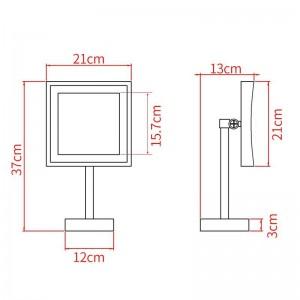 LED-Schminkspiegel-LED-Lichtspiegel Kosmetik-Kosmetikspiegel mit 3facher Vergrößerung und einstellbarer Aufsatzfläche 2205DORB