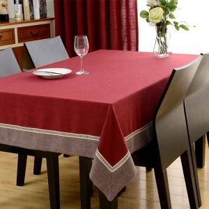 Hot European Trim Rechteck Tischdecke Chenille Esstisch Abdeckung Für Hochzeit TV Schrank Kissen Paket Elegante Tischdecke