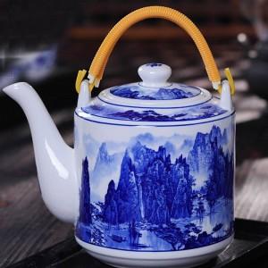 Keramik Porzellan Grüntee Topf Vintage Drink Home große Kapazität Kaffee Milch Wasserkocher handgemachte Teekanne Familie Geschenke