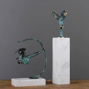 Luxus Reines Kupfer Hauptdekorationen Moderne Minimalistische Studie Dekoration Ornamente Luxus Bogenschützen