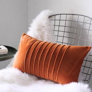 Luxus Samt Kissenbezug Großzügige Streifen Dekorative Kissen Fall Almofadas Cojines Sofa Modell Zimmer Wesentliche Autoplanen