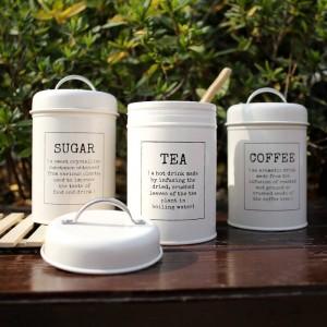 Metall bunte Dichtung Vorratsglas klassische minimalistische nordische Desktop-Speicherflasche Home Organizer Kaffee Zucker Tee Container