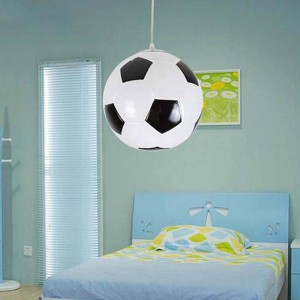 Moderne kreative fußball pendelleuchten, 2 farben dia 25 cm glaskugel lampenschirm pendelleuchte für kinder schlafzimmer balkon