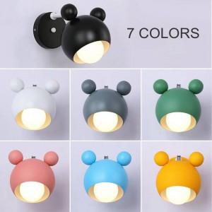 Moderne einfache macaron schöne mickey modell schlafzimmer wandleuchten wohnzimmer kinderzimmer led e27 lampe wandleuchte