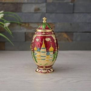 Neue Automatische Zahnstocher Halter Russian Palace Castle Geschnitzte Zahnstocherspender Box Organizer Metall Kunsthandwerk Kreml Dekoration