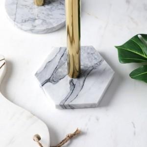 Nordischen Stil natürlichen Marmor vergoldet Küchenpapier Handtuchhalter Schreibtisch Aufbewahrungsregal