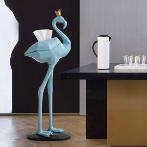 Rosa Flamingo Dekorationen Raum Tissue Box Wohnzimmer Decortive Tissue Holder Boxen Wohnkultur Zubehör Europa Statue Harz