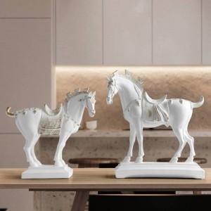harz pferd statuen einrichtungsgegenstände zubehör figuren für büro hotel wohnzimmer kreative einrichtung statue pferd geschenke