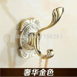 Kleiderhaken Metall Material Gold Finish Handtuchhalter Tür Kleiderhaken Geschnitzte Badzubehör Wand Kleiderhaken 2010
