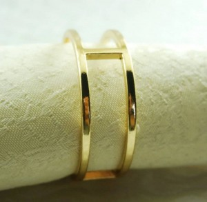 runder Serviettenring aus goldenem Metall, Serviettenhalter für Hochzeiten, 24-tlg