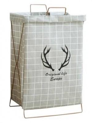 Einfache haushalts baumwolle und leinen kleidung ablagekorb klapphalterung wasserdicht korb korb spielzeugfass kleidung wäsche
