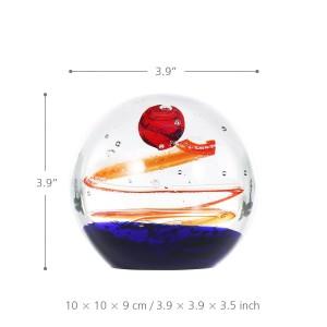 10 CM Durchmesser Glas Star Ball Glasskulptur Mundgeblasene Kunst Glas Tisch Skulptur Briefbeschwerer Dekoration Geschenke