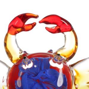 Blume Krabben Geschenk Glas Ornament Tierfigur Geschenk Glas Dekoration Zubehör mehrfarbige Figur Home Decor