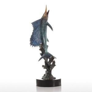 Salifish aus wasser figur handgemachte bronze figur europa kunst wohnkultur handwerk geschenk für zuhause