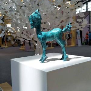 Hirsch Skulptur Modernen Stil Wohnkultur Künstliche Niedlichen Tier Bronze Statue Dekoration Zubehör