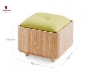 Holz Organizer Storage Hocker Ottoman Bank Fußstütze Box Couchtisch Cube Ottoman Möbel Stoff Kissen Top Ottoman Sitz