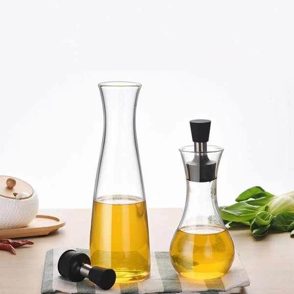ホウケイ酸ガラス調味料ボトルクリエイティブ醤油鍋カバー付き滑り止め非油漏れグレービーボート食器