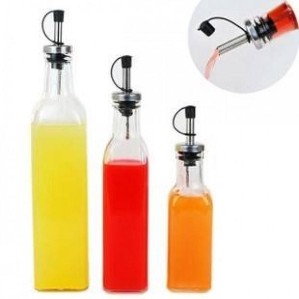 調理ツールLecythus 500ミリリットル透明ガラス酢ボトルキッチン用品オイラースパイスボトルノズルボトル1ピース