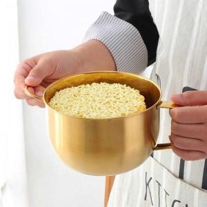 1ピース多機能麺ボウルハンドルリングサラダアイスクリームスープインスタント麺ボウル食品容器キッチン食器