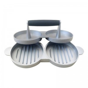2スロットdiyケーキパティメーカーアルミノンスティックダブルバーガープレス肉牛肉グリルホームキッチンバーベキュー調理ツール