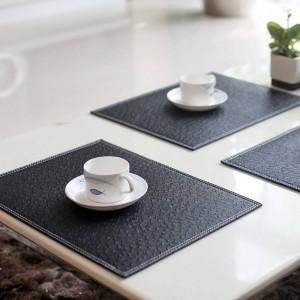 4個/ロットヨーロッパのプレースマットコースター断熱食器pvcの装飾キッチンダイニングボウル皿防水パッドテーブルマット