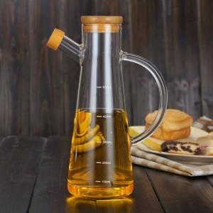 500ミリリットル透明高ガラスホウケイ酸耐熱ガラスオイルポットキッチンボトル大豆調味料醤油酢ボトル