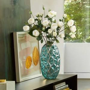アメリカのガラス花瓶の装飾家の装飾テーブルの装飾花瓶手描きの金の花瓶