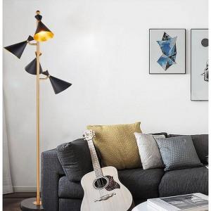 LEDフロアライトアメリカンモダンスタンディングライトリビングルームフロアホテル照明ベッドサイドフロアランプE27 LED電球by DHL