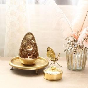 燭台の装飾品結婚式のセットの装飾品手作りのエキゾチックなスタイルの高級ミラー光沢のある