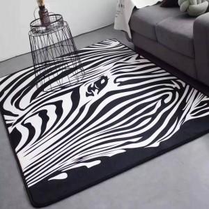 カーペットマットゼブラカーペット黒と白の寝室の敷物リビングルーム客室のソファーベッドパーラーテープ大サイズファッション