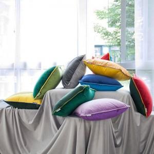 クリスマスの新しい高級クッションカバー固体パッチワークカスタム装飾投球枕カバーcojines coussin almofada