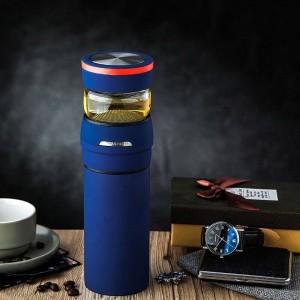 クリエイティブ304ステンレス鋼真空フラスコオフィスマスターティー水セパレートストレートカップ男性ビジネス魔法瓶誕生日プレゼント