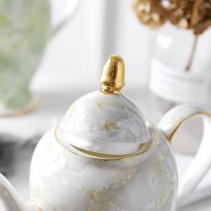 ヨーロッパのコーヒーポットの家の大容量のやかんのティーポットの骨の英国の陶磁器のティーポット