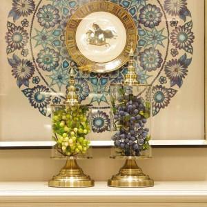 ヨーロッパのクリエイティブガラス花瓶美容家の装飾収納タンク実用的な装飾モデルルームの装飾