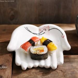 手塗りセラミックプレートキッチン用品家庭用装飾料理フルーツ寿司プレートジュエリー収納プレートジュエリー皿