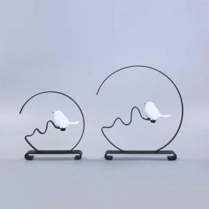 家の装飾サークルラウンドメタルバードショップギフト発売中メタルクラフトアートの装飾クリエイティブデザインクリスタルブックエンドブックストップ