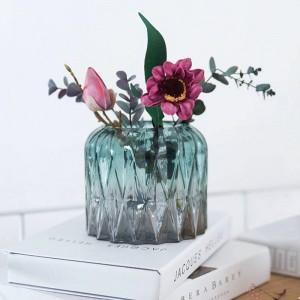 家の装飾幾何学的なガラス花瓶現代のミニマリストのフラワーアレンジメントのリビングルームの装飾の装飾