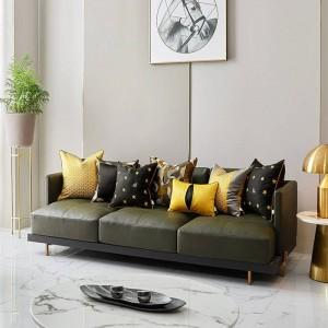 高級蜂刺繍クッションカバークッション女性のためのホームブラックゴールド投球枕カバーcojines decorativosパラソファcoussin