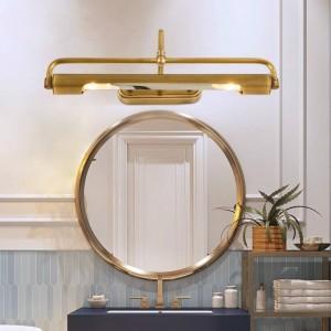 ミラー銅ledライトメイクledヘッドランプロングウォールランプ用更衣室ベッドサイドウォールランプ廊下バスルームミラーライト