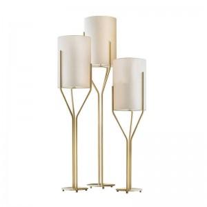 現代のフロアランプシンプルなアート装飾北欧白シェード人格ファッションクリエイティブリビングルームの寝室研究フロア照明