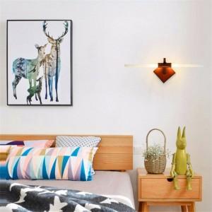 現代のledウォールランプ110ボルト220ボルトアルミミラーヘッドライト寝室のリビングルームの壁ライト廊下インテリア照明装飾