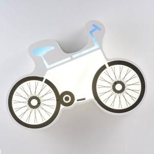 現代のシンプルなLEDシーリングライト自転車ホワイト天井取り付けられたランプ子供部屋クリエイティブLED表面実装照明器具