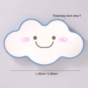 現代のシンプルなLEDシーリングライトカラフルな笑顔顔雲天井取り付けられたランプ子供部屋LED表面実装照明器具