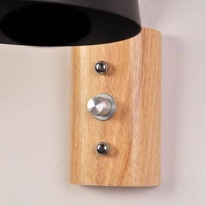 現代の壁取り付け用燭台木製の壁照明器具ledブラックホワイトウォールランプアップホーム照明屋内ベッドサイド階段寝室