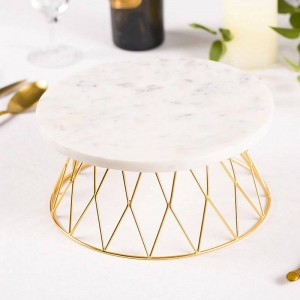 天然大理石のケーキトレイパンカットテーブルダイニングテーブル装飾飾り