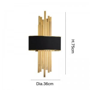 新しい古典的なledウォールランプメッキ金属ゴールド壁掛けライトホームホワイエ廊下照明e27 led壁取り付け用燭台