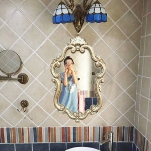 北欧ヨーロッパ浴室アメリカ化粧品ミラー風呂トイレ盆地装飾ぶら下げ壁装飾ミラー
