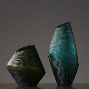 北欧シンプルガラス花瓶装飾アメリカのクリエイティブリビングルームポーチフラワーアレンジメント飾り装飾