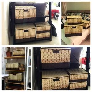 牧歌的なボックス収納ボックステディメイクスナック玩具服バスケット服や収納ボックスランドリーバスケット